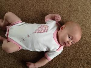 handmade British kite applique onesie