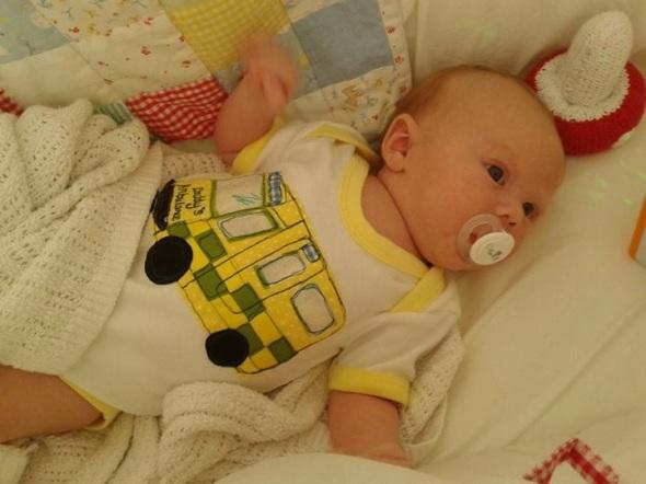 handmade personalised onesie baby British England