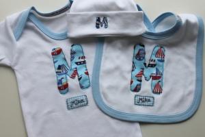 handmade personalised baby onesie England British custom