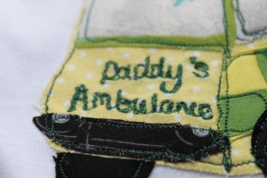 Applique ambulance personalised