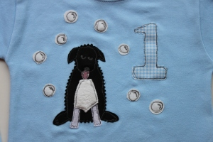 first birthday applique personlaised baby gift