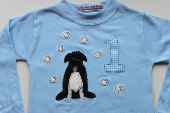 personalised baby gift birthday British England handmade embroidery