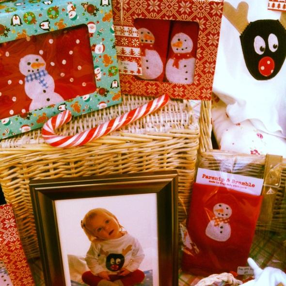 handmade personalised baby Christmas British Englandgifts