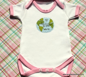 Parsnip and Bramble handmade England British onesie baby gift