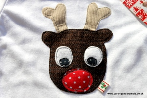 Parsnip and Bramble Reindeer sleepsuit