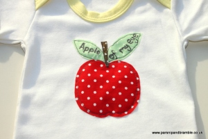 Apple of My Eye applique from Parsnip and Bramble