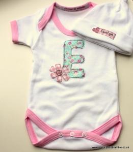 Parsnip & Bramble personalised name baby onesie