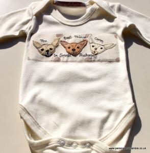 Parsnip & Bramble custom baby onesies
