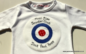 British handmade baby kids applique Parsnip and Bramble