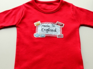 British applique kids top from Parsnip and Bramble UK