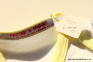 Parsnip and Bramble baby handmade baby onesie UK