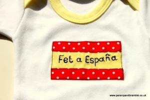 Parsnip and Bramble baby onesie applique custom personalised catalan