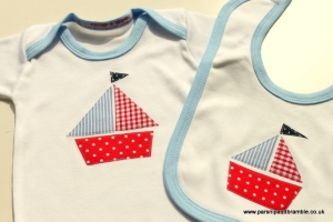 Parsnip and Bramble British made baby wear childrens clothing UK nautical red white blue